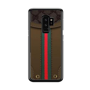 new product dca00 2129e Acc Hp Gucci Wallet Inspired Brown L1324 Custom Casing for Samsung Galaxy  S9 Plus