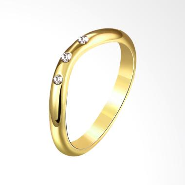 Bella & Co AKR074-A-8 Popular Party Ring Gold Coated Cincin