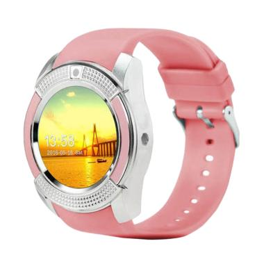 Xwatch V8 Smartwatch for Android dan iPhone - Pink