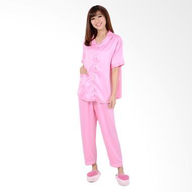 Jfashion CP Silky Setelan Baju Tidur Wanita - Pink