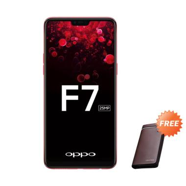 OPPO F7 Smartphone - Red [64 GB/ 4 GB] + Free Dompet