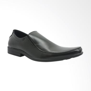 Dr.Kevin Men Leather Shoes Sepatu Pria - Black [13197]
