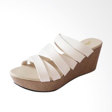 Akane AK-AJ118 Sandal Wedges Wanita - White
