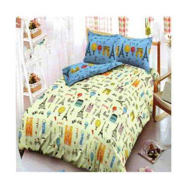 Kintakun Motif Merci Paris Dluxe Set Sprei [180 x 200 cm/ King]