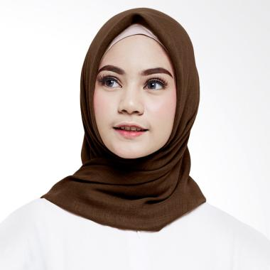 Cotton Bee Ultrafiber Voal Square Hijab - Chocolate