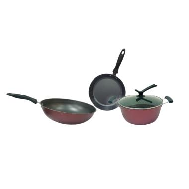 Soppi Set Cookware Set Panci + 1 Tutup Kaca [3 Set]