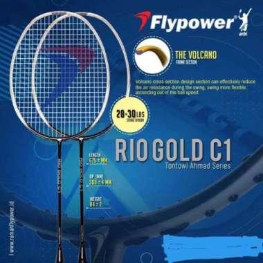 harga RAKET BADMINTON-BULU TANGKIS FLYPOWER RIO GOLD C1 ORIGINAL 100% - TANPA SENAR Multicolor - Blibli.com