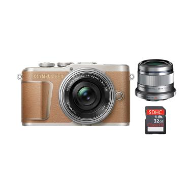 harga Olympus PEN E-PL 9 Kit 14-42 EZ Kamera Mirrorless with 45mm F1.8 Lensa Kamera and SDHC Kartu Memori 32 GB Blibli.com