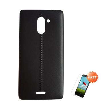 Oem Slim Soft Casing For Infinix Hot 4 Pro X556 Hitam Solid Free Tempered Glass