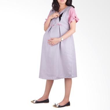 HMILL 1506 Dress Hamil & Menyusui - Abu