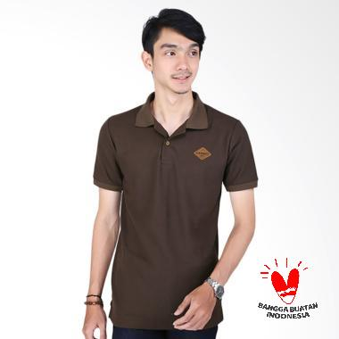 Catenzo Wangki Andy PL 914 Kaos Polo Pria - Coklat