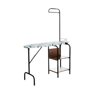 MD Furniture MS-9101 Lipat Besi Meja Setrika - Hitam/Wenge
