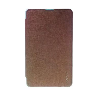 Dyval Flip Cover Casing for Advan E1C 3G - Coklat