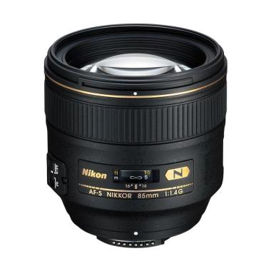 Nikon AF-S 85mm F-1.4 G Lensa Kamera - Black