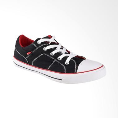 Carvil Canvas Mens Shoes Sepatu Casual Pria - Black Roller-M
