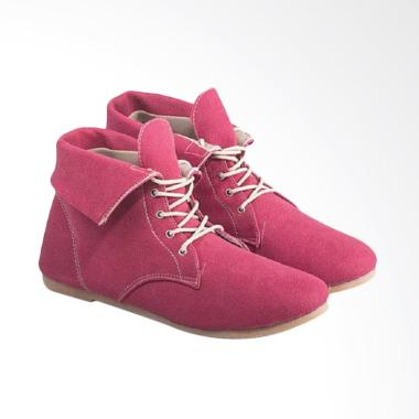 Everflow Fashionable Women Trendy Boots Suede A143 - Pink