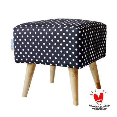 Ayoyoo Black Polka Square Stool - Black