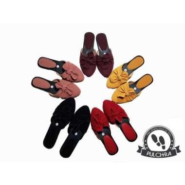 harga Sandal flatshoes wanita flat shoes cewek st045 teplek sepatu bunga Blibli.com