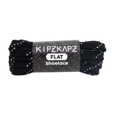 KipzKapz FS54 Shoelace Flat Tali Se ... ki - Black White [ 90 cm]