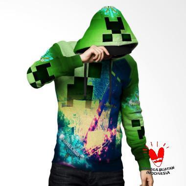Fika Tema Minecraft 3D Full Print S ... rt 4 Jaket Hoodie Sweater