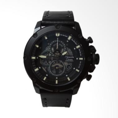 Alexandre Christie Chronograph Stai ... gan Pria - Black AC6416MC