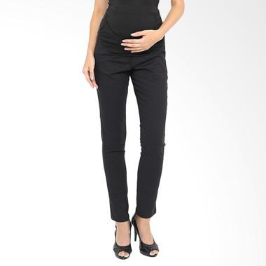 INUJIRUSHI Maternity Jeans Rubber Celana Panjang Ibu Hamil - Black