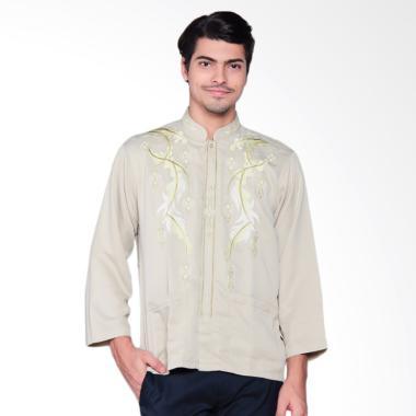 Abrizam Fashion Medinna Baju Muslim Pria - Cream [Med002]