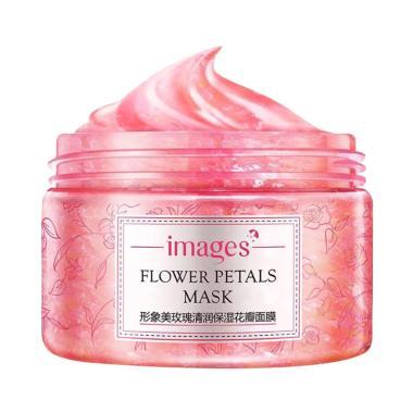 images Korea Flower Petals Mask Rosa Rugosa Masker Wajah