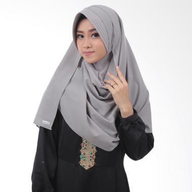 Atteena Hijab Pashtan Farzana Kerudung Instan - Light Grey