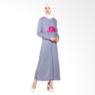 ICL Boutique Elle Dress Muslim Wanita - Blue Grey
