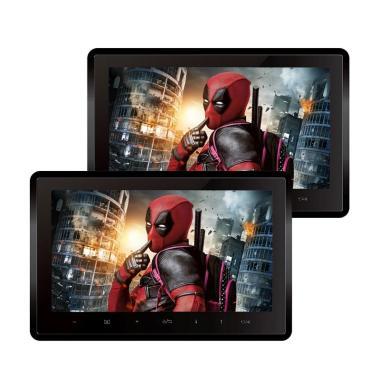 harga MTECH MM-7700 Monitor Headrest Set - Black [10.1 Inch] Blibli.com