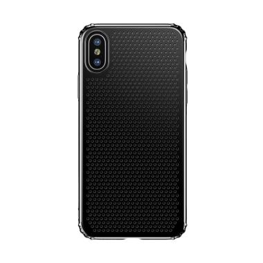 Baseus Small Hole Casing for iPhone X 5.8 Inch - Hitam
