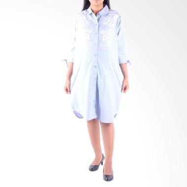 HMILL 1400 Baju Dress Hamil - Biru muda