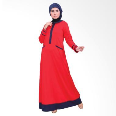 Vemmella Gemma 05 Baju Gamis Muslim Wanita - Merah