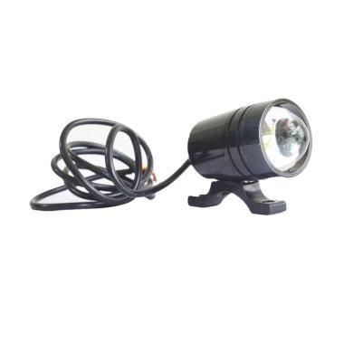 Raja Motor U1 Nyala Putih LED Lampu ... l - Hitam [LAH-TEMBAK-U1]