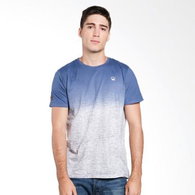 3SECOND Men T-Shirt Pria - Blue [1.80.09.17.12]