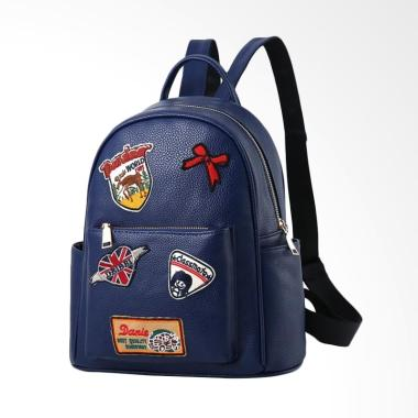 Purnama Import PU New Model Backpack Tas Ransel Wanita - Blue