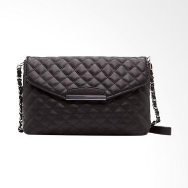 Lansdeal Purse Shoulder Bag Leather Tas Wanita - Black
