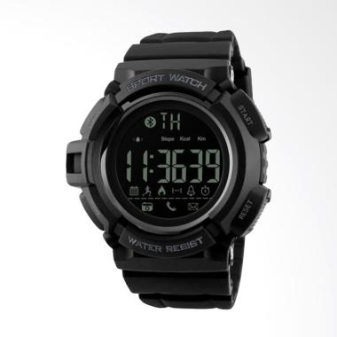 Skmei 1245 Water Resistant Jam Tangan Pria Sporty Smart Watch - Black