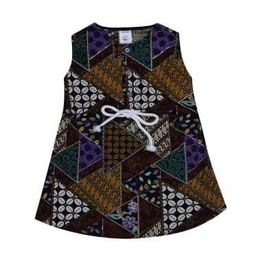 MacBear Kids Dress Baju Batik Anak - Brown