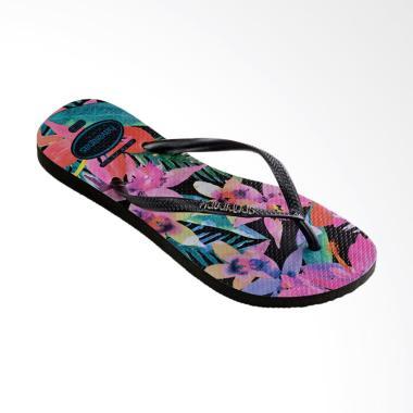 Havaianas 0090 Slim Tropical Flip Flop Sandal Wanita - Black