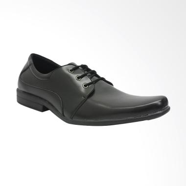 Dr.Kevin Men Leather Shoes Sepatu Pria - Black [13199]