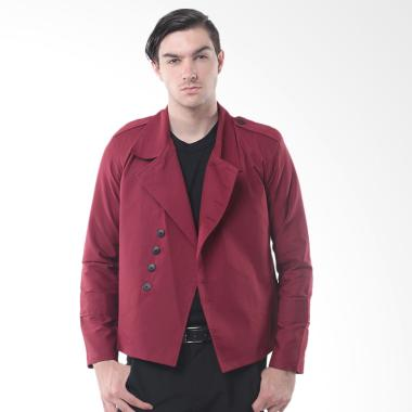 Crows Denim Trend Fashion Blazer Jaket - Red