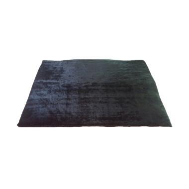 Rasfur Besar Karpet Bulu - Hitam [200 x 150 x 3 cm]