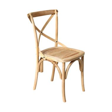 VIE FOR LIVING Cross Jati Dining Chair - Natural