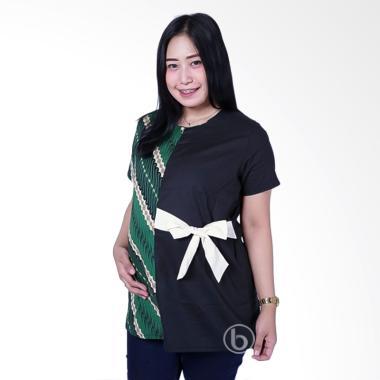 Mama Hamil BTK 161 Baju Hamil Batik Pita Gilantri Blouse - Hijau