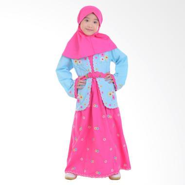 Jesca and Paul Farah 211 Gamis Baju Muslim Anak - Blue