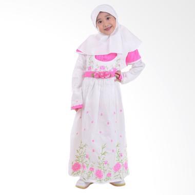 Jesca and Paul Hanna 217 Gamis Baju Muslim Anak - White