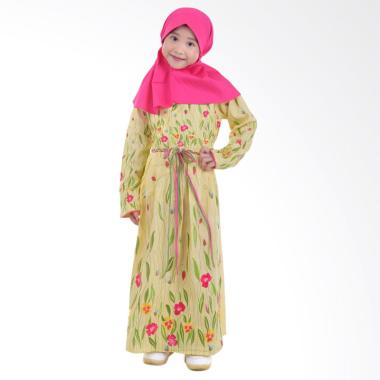 Jesca and Paul Layla 220 Gamis Baju Muslim Anak - Yellow