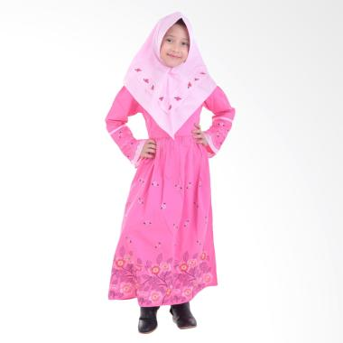 Jesca and Paul Esye 225 Gamis Baju Muslim Anak - Pink